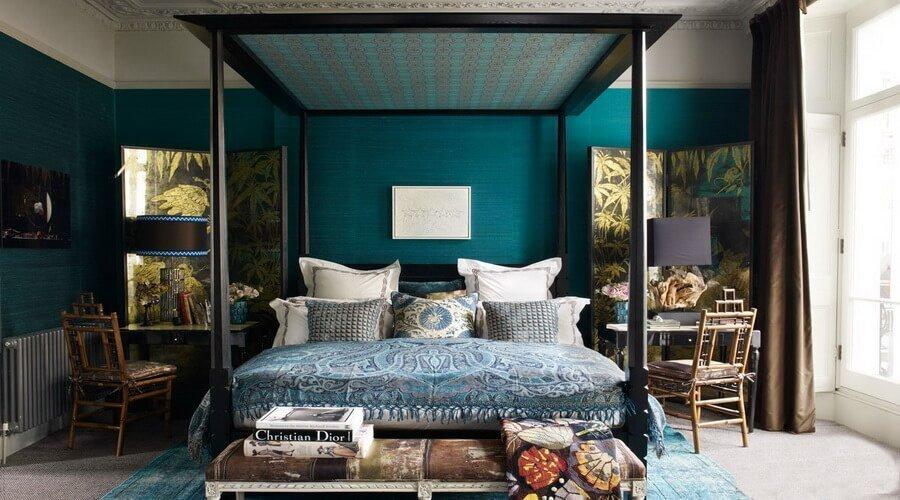 astonishing blue gold bedroom   10 Amazing Blue Bedroom Interior Design Ideas - Interior Idea
