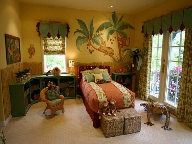 10 interesting boys 39 themed bedroom interior design ideas for Jungle bedroom ideas