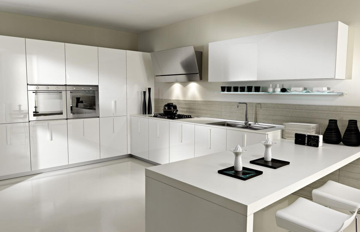 Sleek Modern Kitchen Cabinets