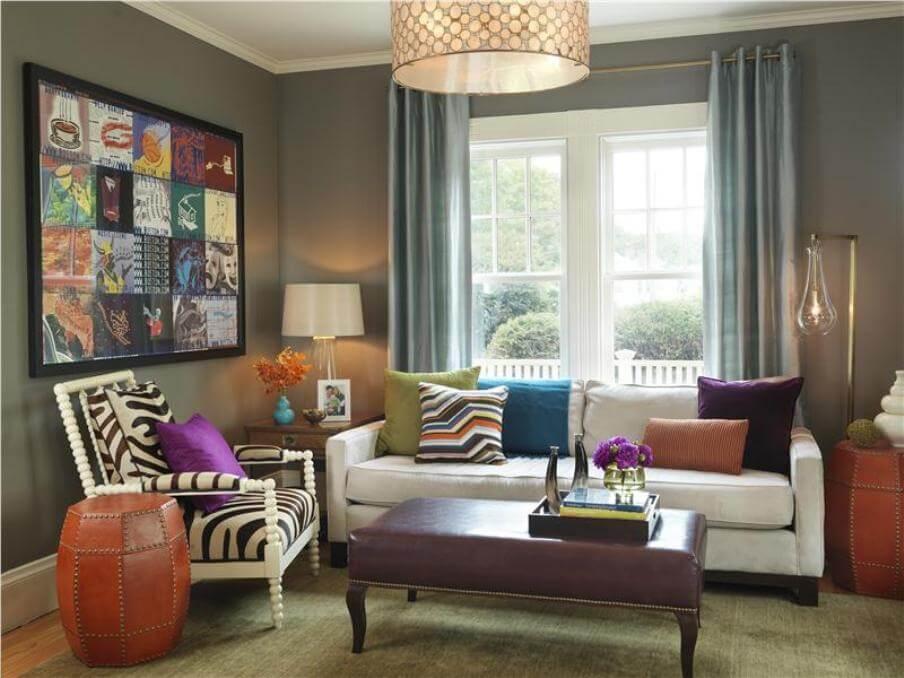 10 Modern Eclectic Living Room Interior Design Ideas ...