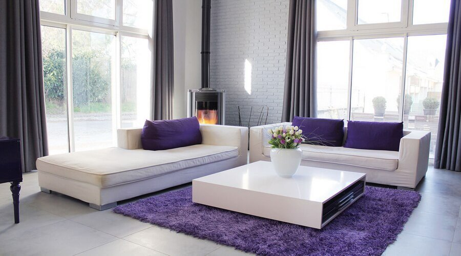 10 chic purple living room interior design ideas - Purple and black living room ideas ...