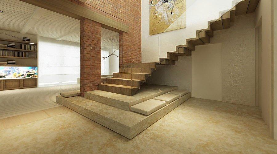 Lighting Basement Washroom Stairs: 10 Contemporary Hallway Interior Design Ideas