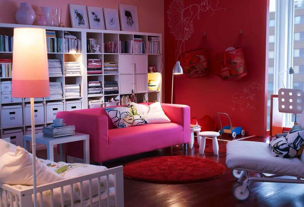10 amazing pink living room interior design ideas for Interiors ideas for living room
