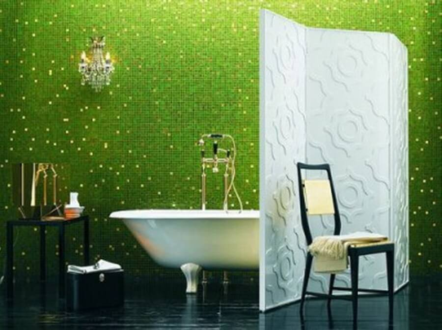 Lush Green Bathroom