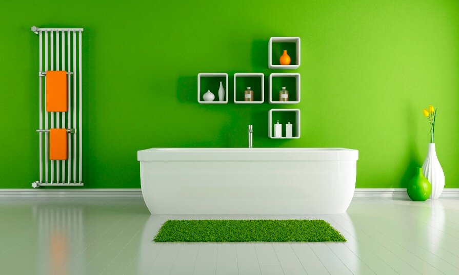 Stylish Green Bathroom