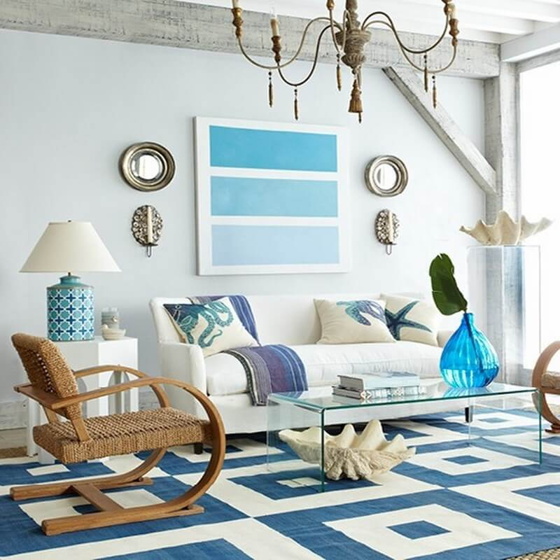 10 Coastal Inspired Living Room Interior Design Ideas