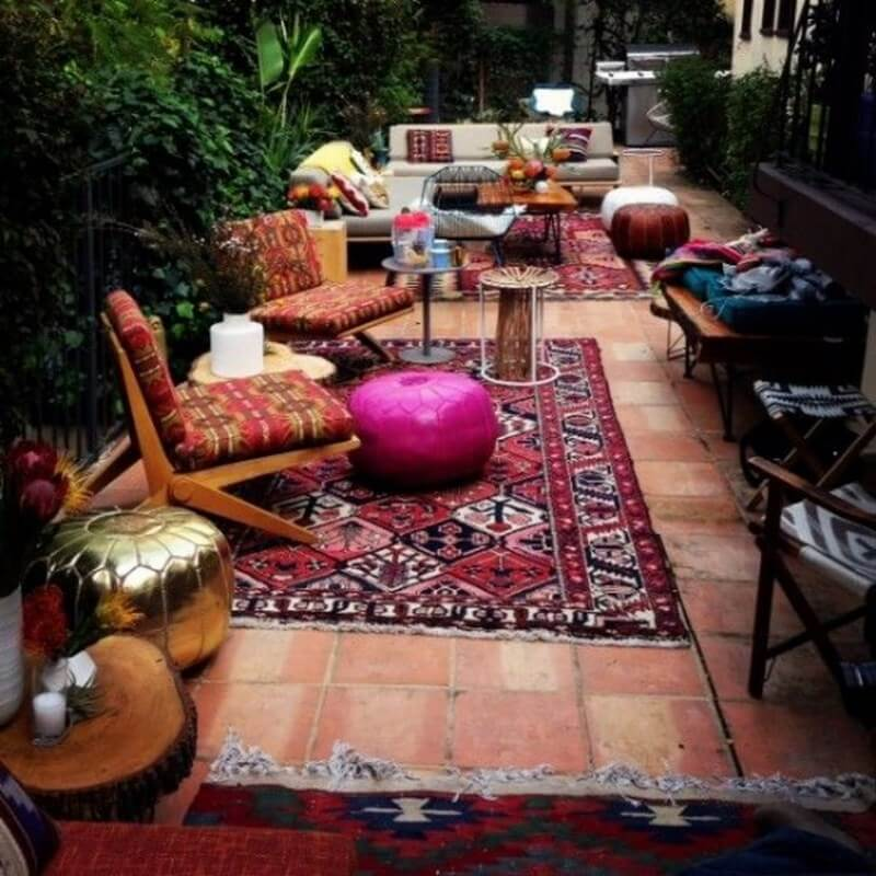 Outdoor Moroccan Decor Design Ideas: 10 Charming Bohemian Patio Design Ideas