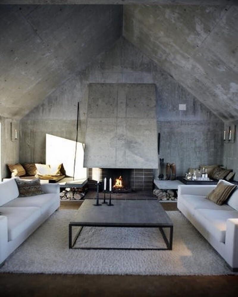 10 Amazing Living Room Interior Design Ideas With Concrete Walls