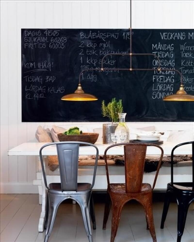 Urban Chalkboard Dining Room