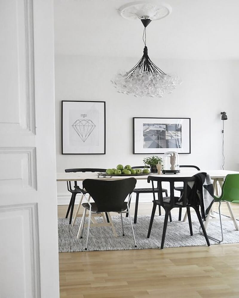 Sleek Monochrome Dining Room