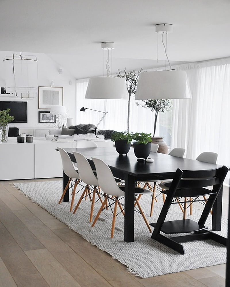 Modern Clean Dining Room