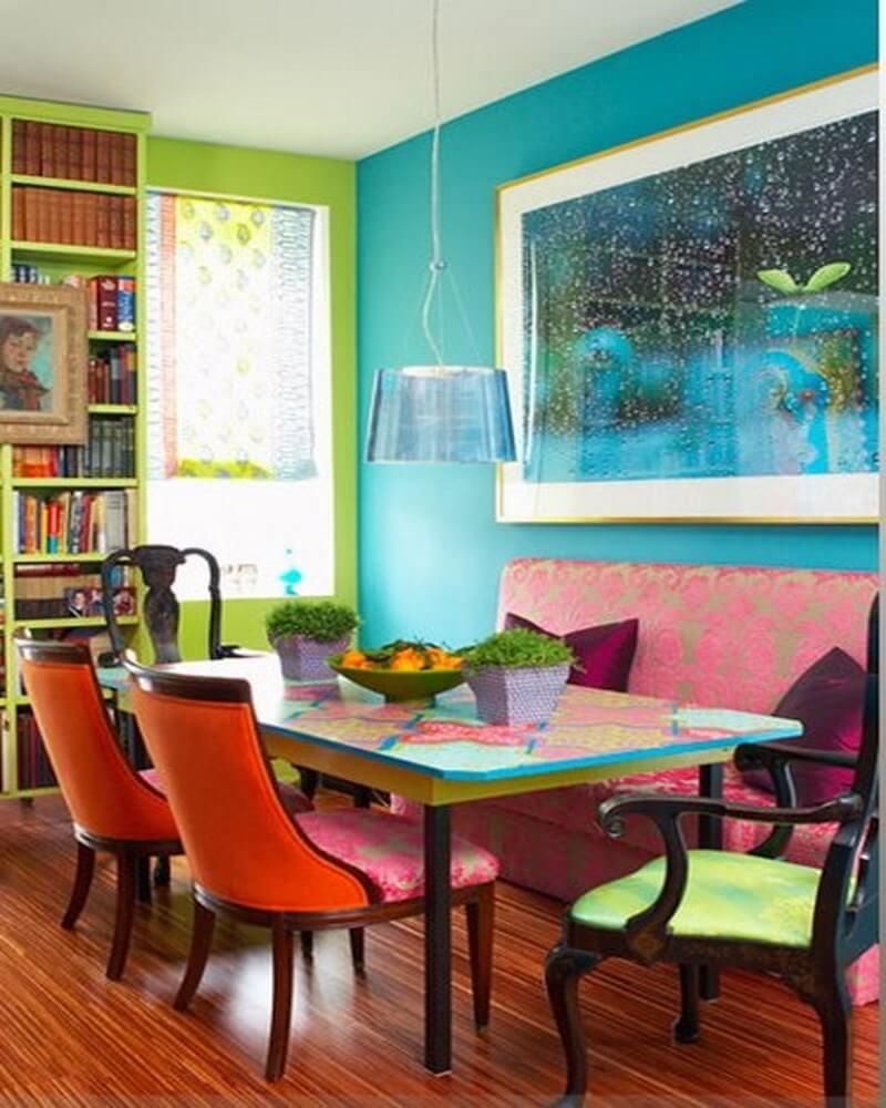 10 Vivid Dining Room Interior Design Ideas