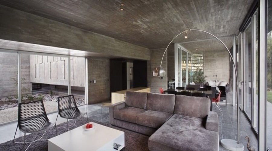 10 Amazing Living Room Interior Design Ideas With Concrete