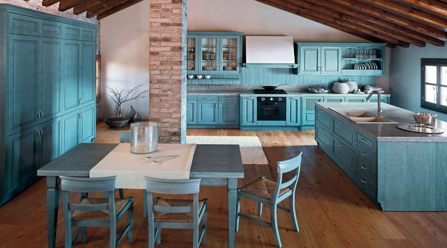 10 Astounding Blue Kitchen Interior Design Ideas