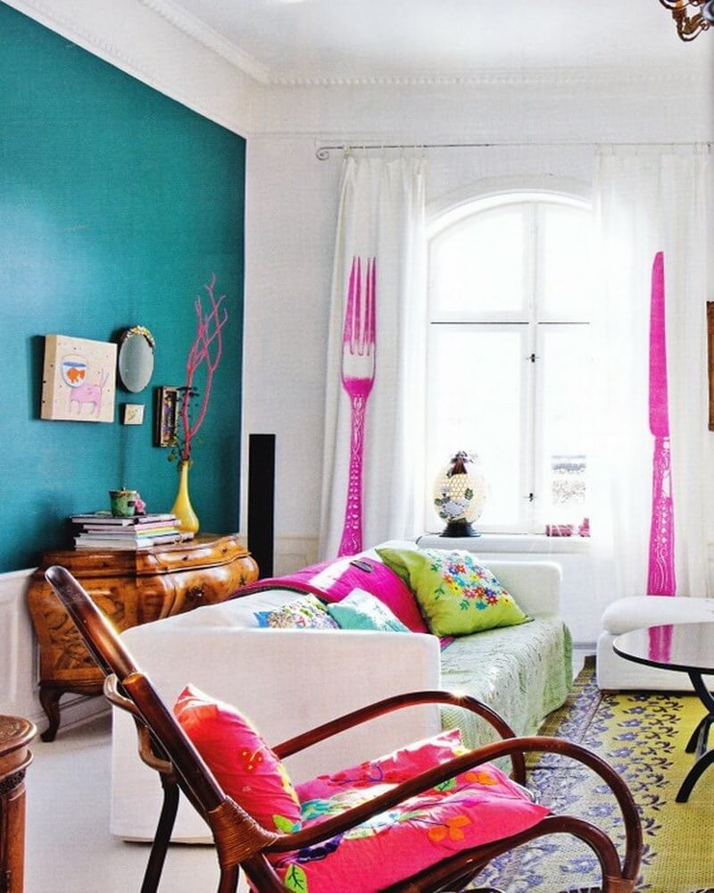 Colorful Living Room Style: 10 Interesting Colorful Living Room Interior Design Ideas
