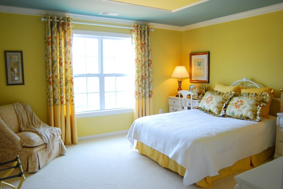 Classic, Warm Yellow Bedroom
