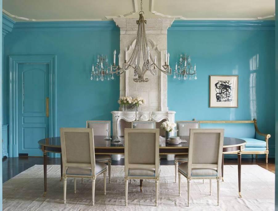 Classy Blue Dining room
