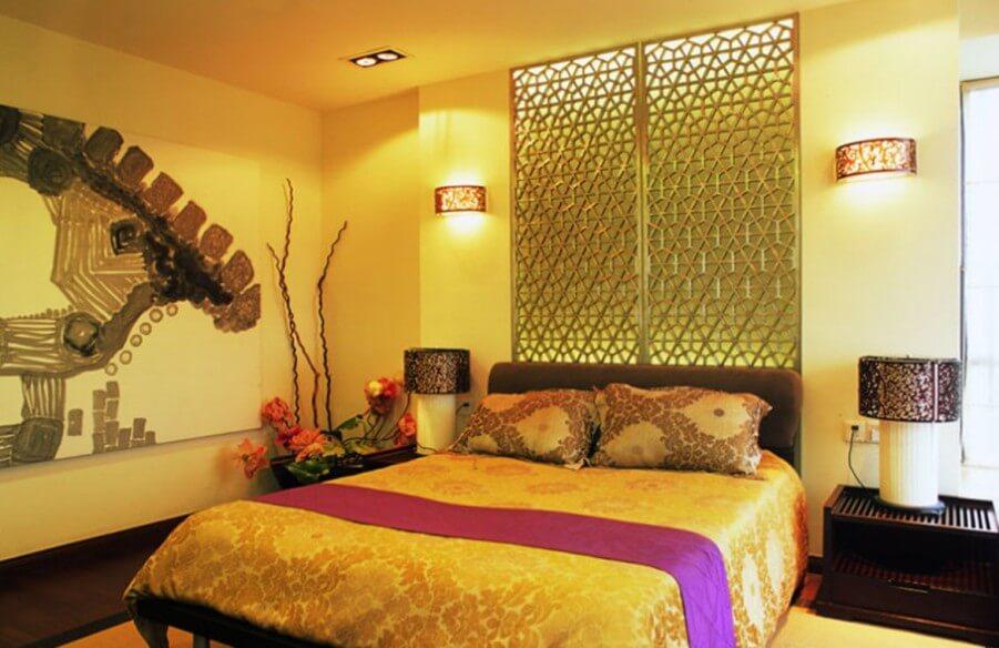 Classy, Bold Yellow Bedroom