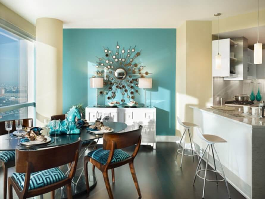 Contemporary Blue Dining Room