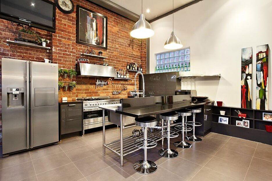 10 Cool Kitchen Interior Design Ideas with Brick Walls ...