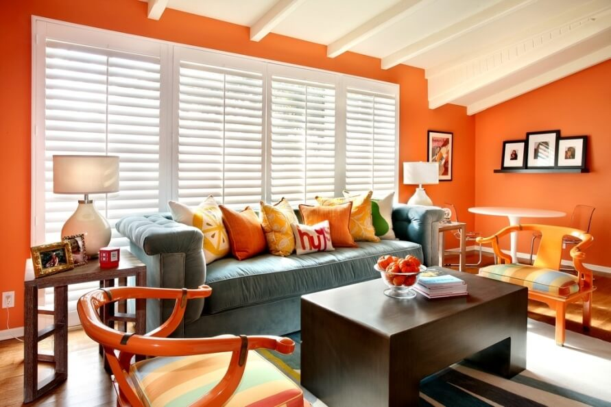 Cozy Warm Orange Living Room