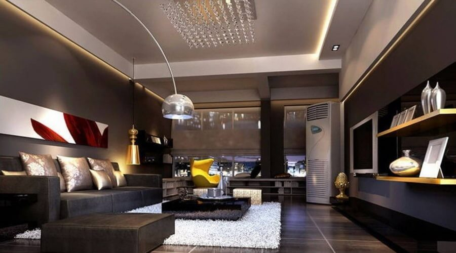 10 stylish dark living room interior design ideas interior idea for Interior design in living room