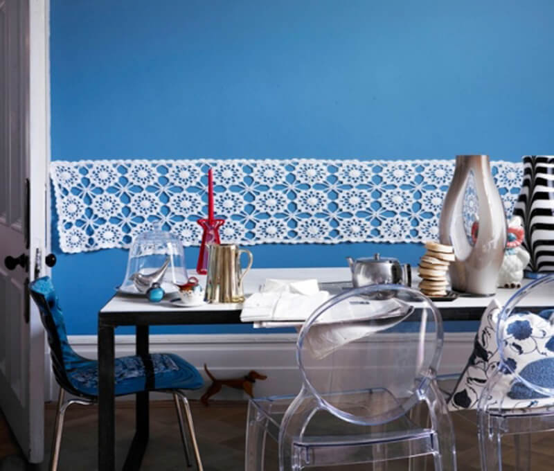 Eclectic Blue Dining Room
