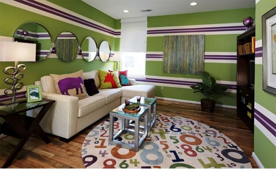 10 Modern Living Room Interior Design Ideas With Striped