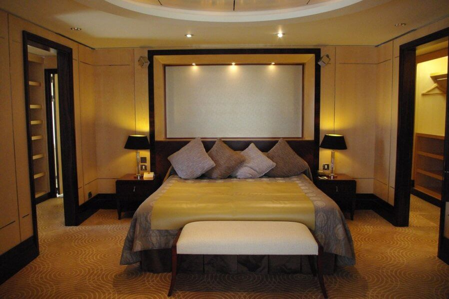 Hotel Style Modern Yellow Bedroom