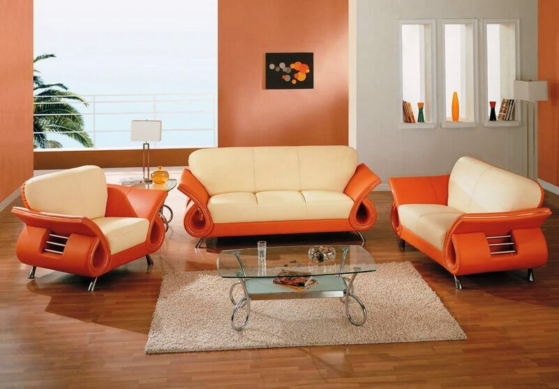 Luxury Orange Living Room
