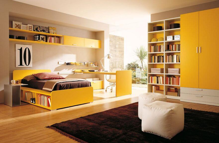 Minimalistic Yelow Bedroom