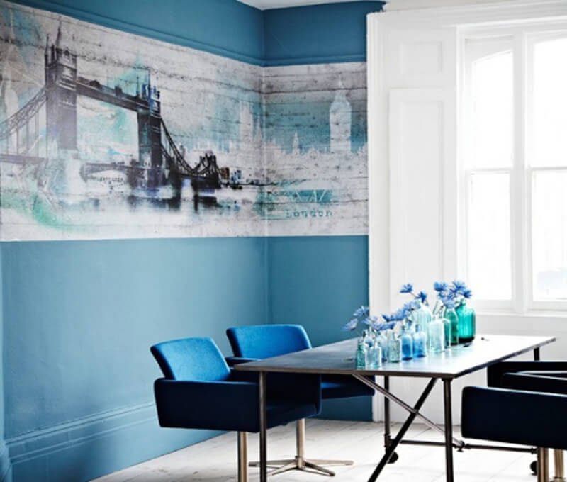 Blue Interior Design Ideas: Refreshing Blue Dining Room Ideas Full Of Cool Blue Energy