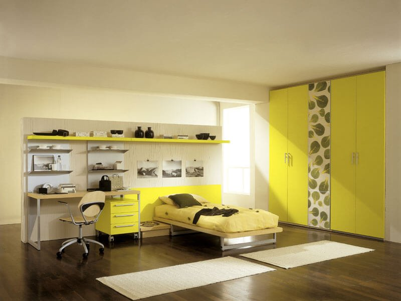 New Age, Minimalisitic Yellow Bedroom