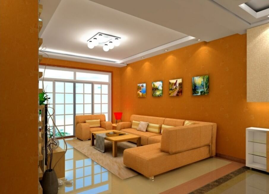 Relaxing Orange Living Room