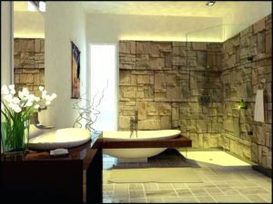 Bathroom with Exposed Brick