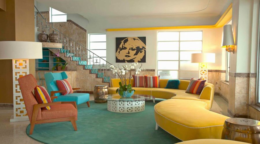 10 whimsical modern retro interior design ideas interior for Classic beach house designs
