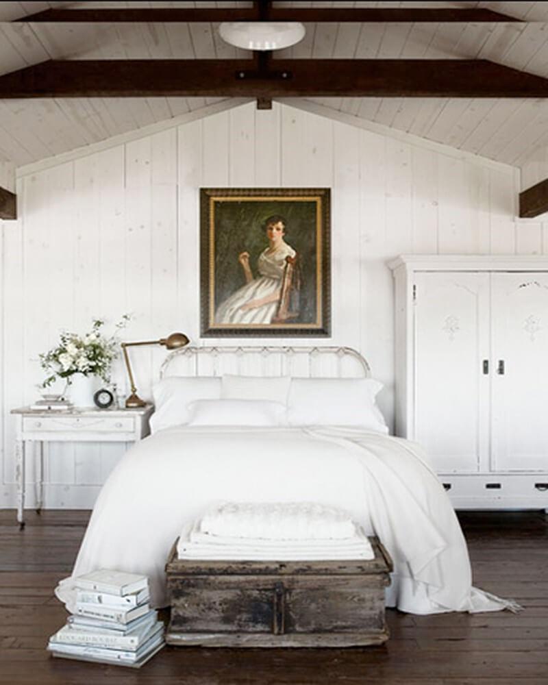 10 White Rustic Rooms: 10 Serene White Bedroom Interior Design Ideas