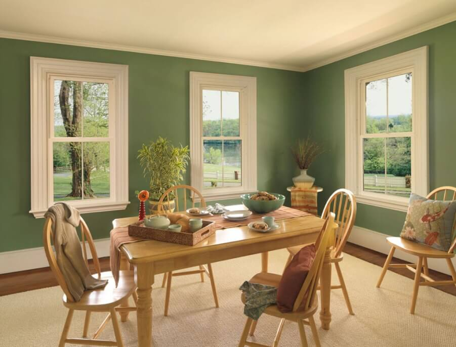 Bold Green Dining Room