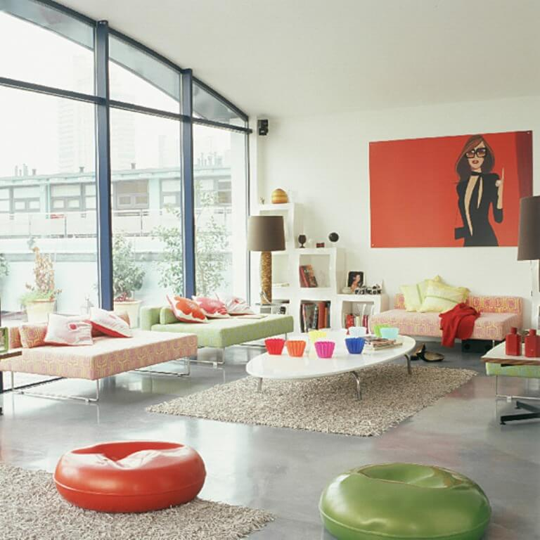 Charming Pop Art Living Room