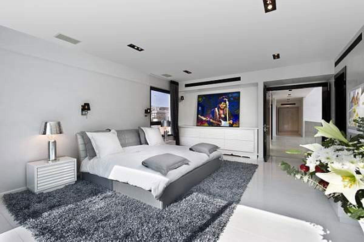 10 White and Gray Bedroom Interior Design Ideas - Interior ...