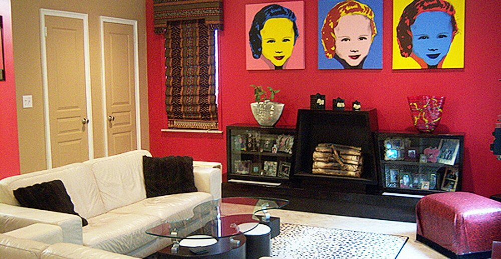 Red Pop Art living Room
