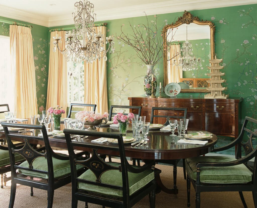 Elegant Green Dining Room
