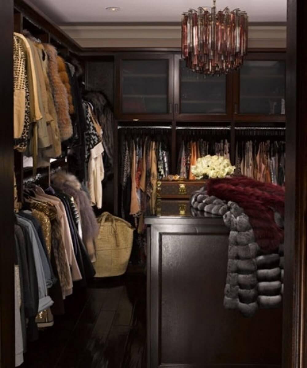 Bold and dark closet