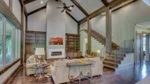 Ceiling with Wood Beams