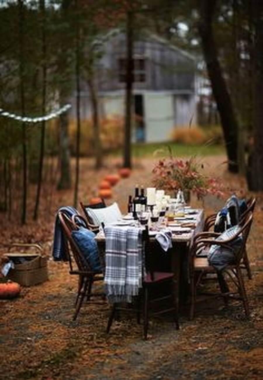 Fall yard decorations