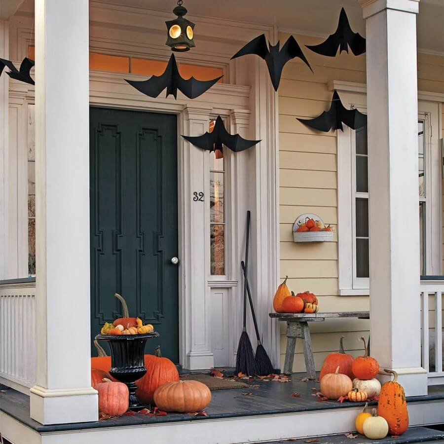 Mysterious Halloween front porch