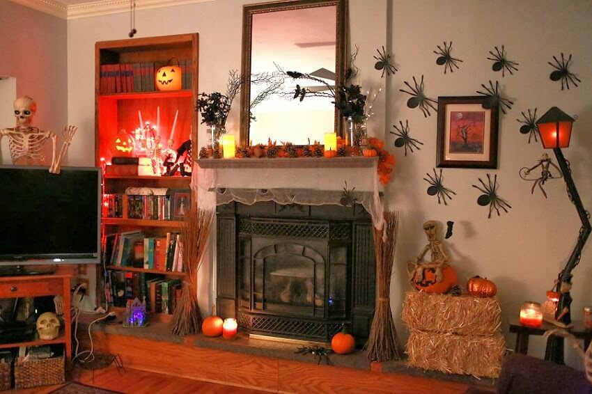 Fun Halloween Living Room