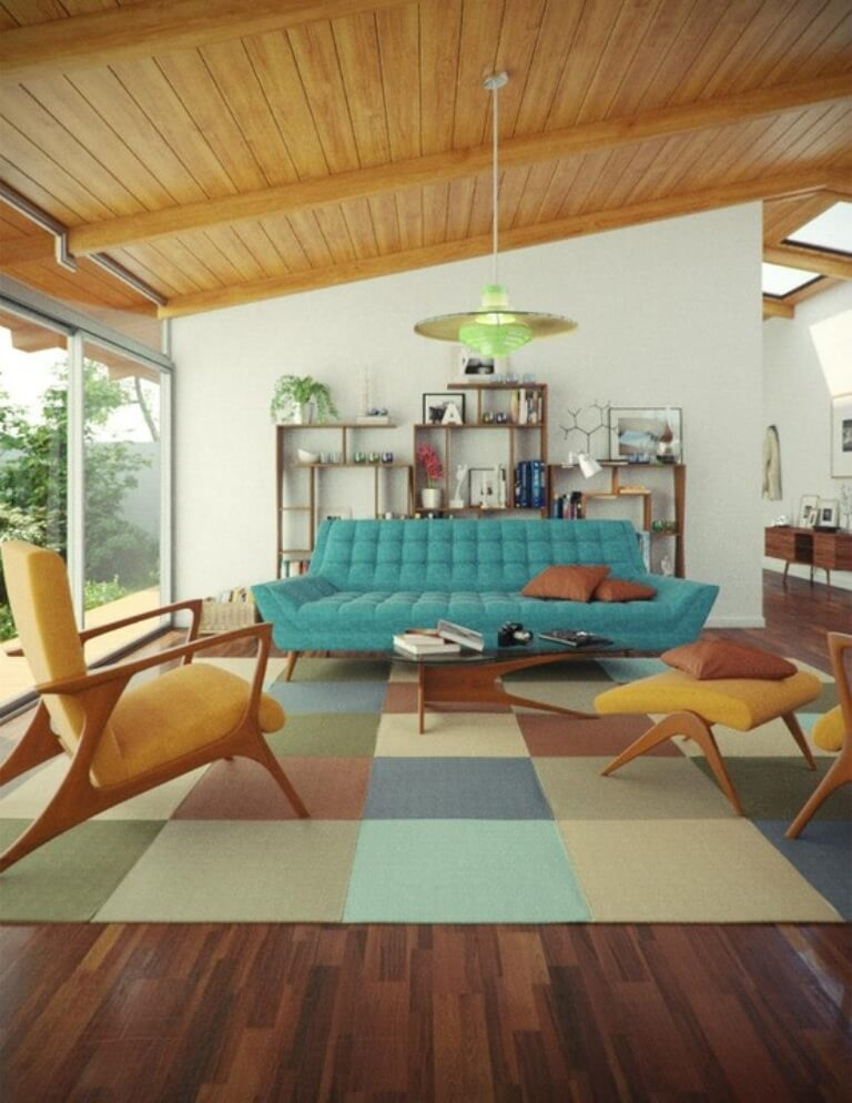 10 modern mid century living room interior design idea for Mid century modern plans