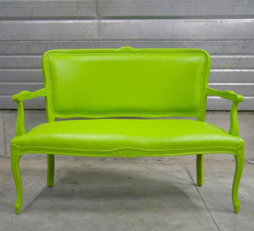 Neon Green Vintage Sofa