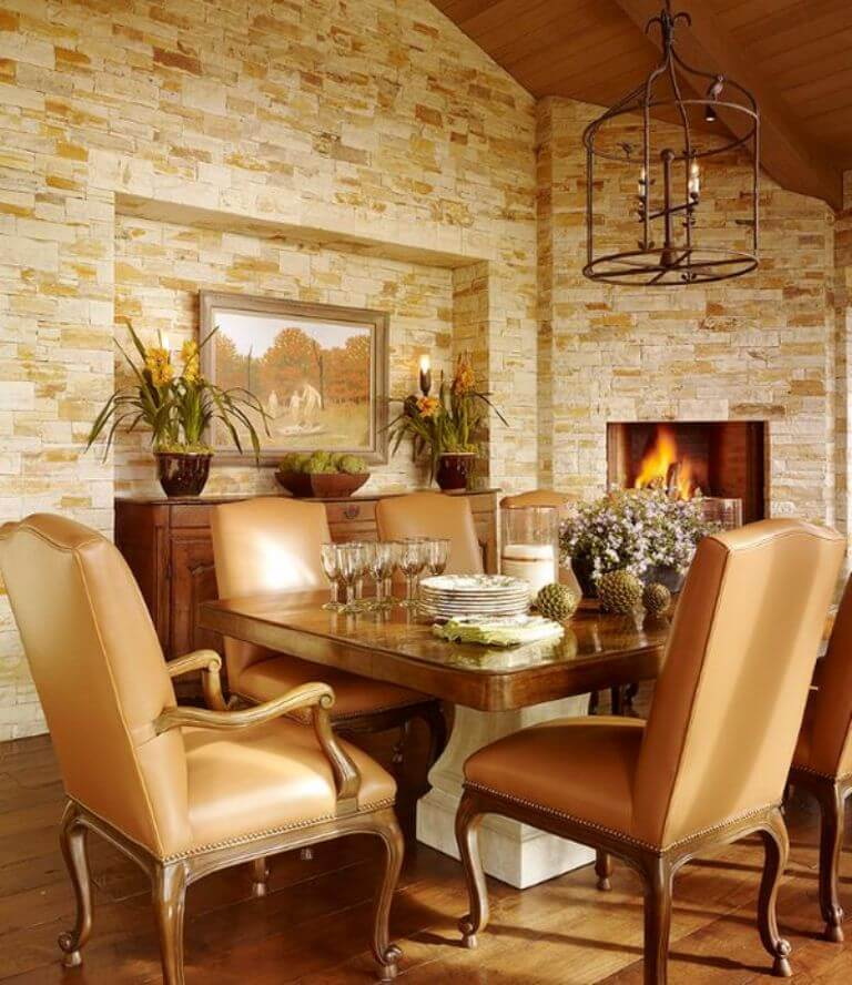 8 Cozy And Modern Dining Rooms With Fireplace